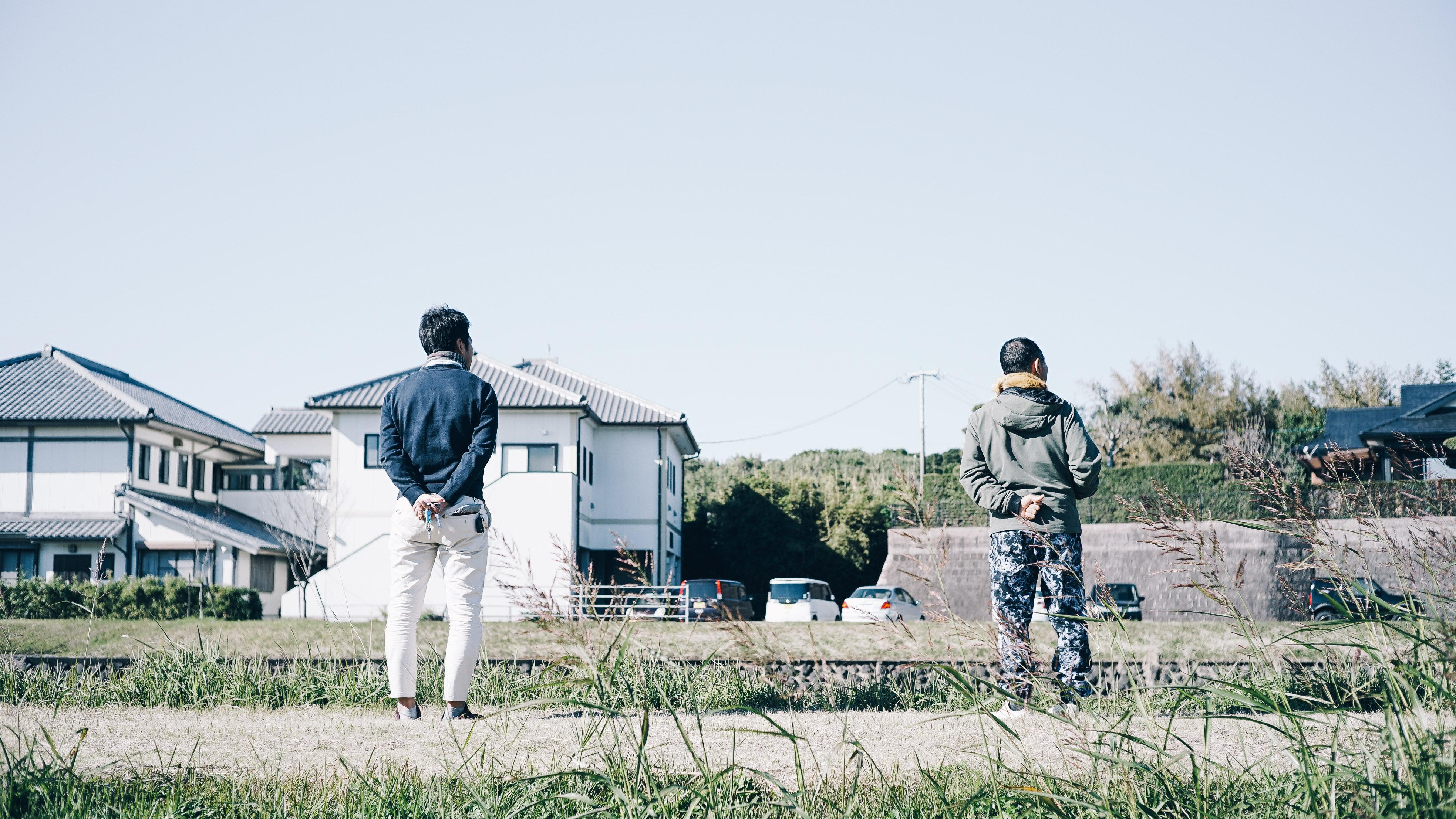 石垣川の堤防