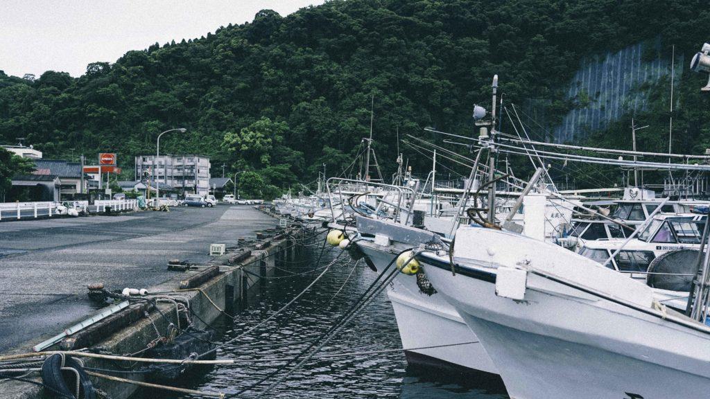 山川港の漁船