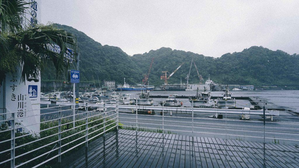 山川港の湾内